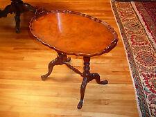 Luxurious Louis XVI Style Honey Burl Mahogany Oval Tea Table Superb Replica/1850