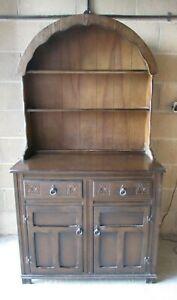 Kitchen Dresser, Round Dome Top, Dark Oak, 97cm Wide, 182cm High
