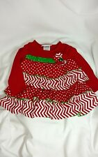 Bonnie Baby Christmas Top or Dress Red/White/Green Sz 18 months MSRP $40