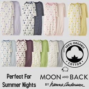 New Unisex Baby 2-Pack Organic Cotton Summer Night Sleeping Gown Sleepsuit