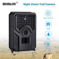PR200 Boblov 12MP Hunting Scouting Camera Night Vision 49pcs IR LEDs Waterproof