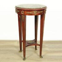 Tavolino tavolo antico rotondo stile impero da salotto tondo in legno con bronzi
