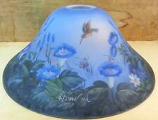 Humming Bird & Flowers Satin Glass Lamp Shade Replacement