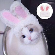 Funny Pet Dog Cat Cap Costume Warm Rabbit Hat Cosplay Accessories Photo Props qe