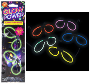 Glow in the Dark Spectacles - 2 Pair Pack of Neon Spectacles - Glow Glasses