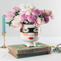 Ceramic Flower Vase Home Decor Bedroom Face Nordic Floral Desktop Art Tabletop