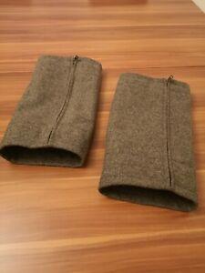 Lodengamaschen aus 100% Schurwolle Gebirgsloden in grau 1 Paar ohne Kordel