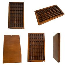 Vintage WOODEN Thimble Knick Knack Wall Display Case Holds 49 Homemade Handmade