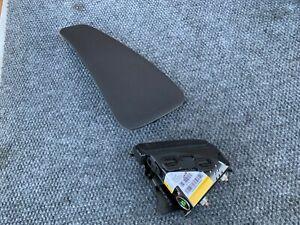 RIGHT SIDE SEAT PELVIC AIRBAG SET BLACK 10-15 MERCEDES C250 C300 C350 C63 W204