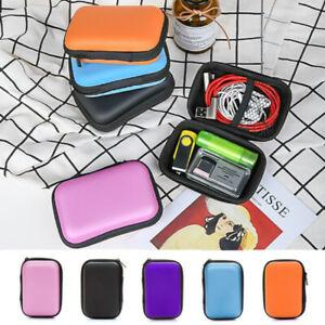 Multipurpose Mini Storage Bag Earphone Data Line Card Key Coin Case with Zippe