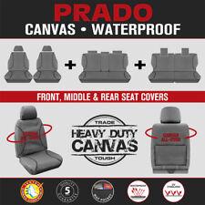 Heavy Duty Waterproof Canvas Seat Covers for Toyota Prado 2010-On