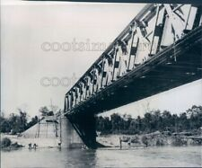 1944 Press Photo Unknown River Bridge Ledo Road 1940s India