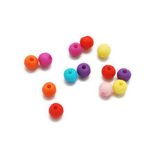 Wholesale Mixed-Colour Acrylic Beads Plain Round 6mm 5 Packs Of 70+