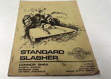 1979 CONNOR SHEA STANDARD SLASHER  Service Manual & Parts List