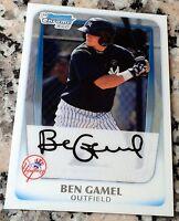 BEN GAMEL 2011 Bowman Chrome Rookie Card RC LOT Brewers Mariners Yankees $ HOT $