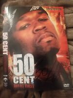 50 CENT SIGNED SHOOT FIRST DVD COVER DIE TRYING RAP LEGEND W/COA+PROOF RARE WOW