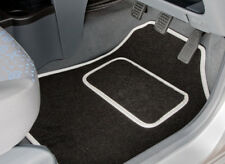 FIAT 500 (2013 ONWARDS) TAILORED CAR MATS WITH WHITE TRIM [3027]