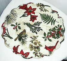 """""""NATURE SINGS"""" ROUND CHRISTMAS PLACEMATS SET OF SIX (6) NEW!!"""