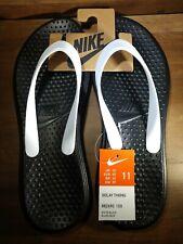 Nike Solay Thong Flip Flops Sandals Black/White Men's Size 11 Brand New