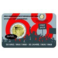 Coincard 2 euros BELGIQUE 2018 FRANCAIS - Cinquantenaire de mai 1968