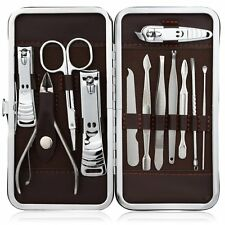12 in 1 Stainless Steel Manicure Pedicure Set, Ear Pick Nail-Clippers Set