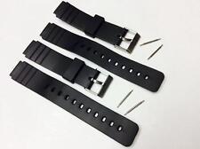 16mm fits CASIO MQ-24 Black Rubber Watch BAND Strap MQ-24 EB-3011 MQ-58 Pins KB1