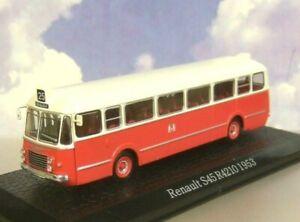 ATLAS 1/72 RENAULT S45 R4210 COACH/BUS RED/CREAM ROUTE 25 BORDEAUX FRANCE 1953