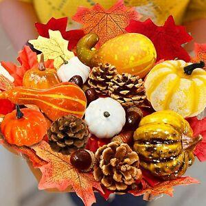 86Pcs Artificial Pumpkin Harvest Autumn Halloween decorations props Party Decor
