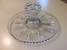 VINTAGE IMPERIAL CANDLEWICK DEPRESSION GLASS HANDLED DEVILED EGG PLATE Gorgeous!