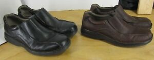 CLARKS  Mens 12 Pickett Slip-On Casual Shoe Loafer Black or Brown 82293 82290