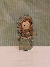 "Vintage Holly Hobbie mini Heather rag cloth doll toy American Greetings 4"" 1979"