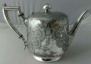 Antique Edwardian Atkin Brothers Sheffield Silver Plate Teapot 2 Pint 1L 5899