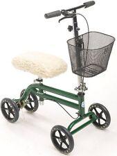 Steerable Knee Walker Scooter Turning Folding with Disc Brake & Basket Kne