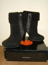 Karen millen limited edition womens ladies black all leather boots 39 UK 6 £225
