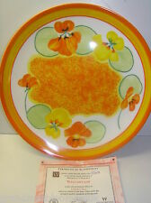 WEDGWOOD BONE CHINA CLARICE CLIFF PLATE NASTURTIUM BRADEX LTD EDITION WITH CERT