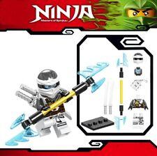 Ninjago  Zane ZX Masters of Spinjitzu Samurai Warrior Custom Lego Mini Figure