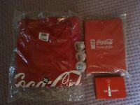 Coca-Cola lot XL T shirt Notebook blinking rings (x3) playing cards collectibles