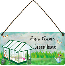 Greenhouse Sign Personalised Garden Sign Shed Plaque Summer House Sign Gift
