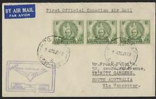 AUSTRALIA CANADA 1949 FIRST OFFICIAL CANADIAN AIR MAIL SYDNEY TO VANCOUVER