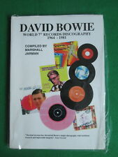 DAVID BOWIE WORLD 7 INCH RECORD DISCOGRAPHY 1964 TO 1981 - MARSHALL JARMAN BOOK