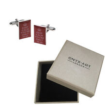 Mens Keep Calm & Carry On 70Th Birthday Present Cufflinks & Gift Box By Onyx Art