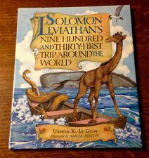 Rare DBL SIGNED 1ST Ursula K. Le Guin SOLOMON LEVIATHAN'S TRIP AROUND THE WORLD