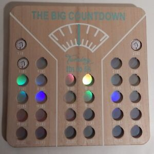WEIGHT LOSS MOTIVATION WOOD SIGN / THE BIG COUNTDOWN / Ib's to £'s COIN HOLDER