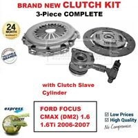 FOR FORD FOCUS CMAX (DM2) 1.6 1.6Ti 2006-2007 BRAND NEW 3-PC CLUTCH KIT with CSC