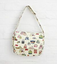 Cream Oilcloth Shoulder Gym Shopping Changing Bag By Katz PP10BE Christmas