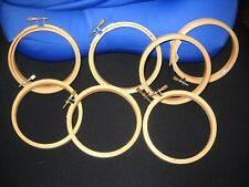 Lot of 7 - 4 inch Wooden Embroidery Hoops