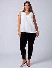 New LANE BRYANT $60 BLACK Velvet Legging Pant Plus Size 14/16 1X