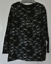 New Gap 100% cotton long sleeve tunic top Black/white age 2
