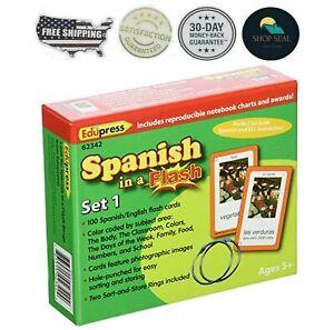 Tarjetas De Aprendizaje Para Niños En Español Set De 100 Cartas Educativo