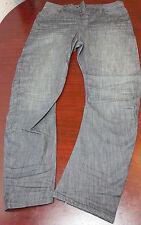 all saints mens jeans size 30 quarry split charcoal black spitalfields  denim